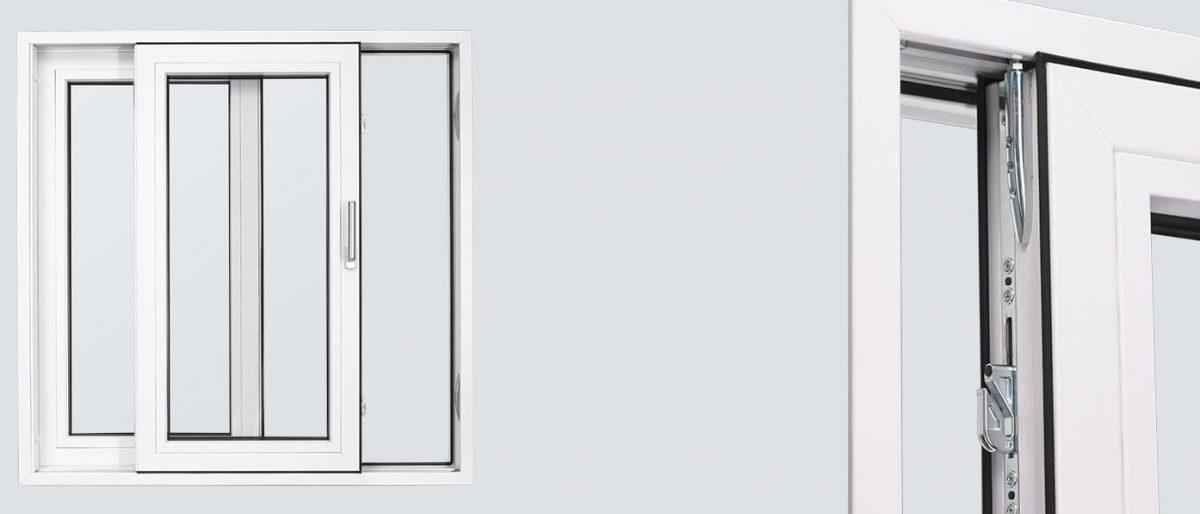 Tilt and slide پنجره فولکس واگنی دو جداره upvc